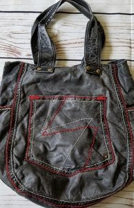 Steve Madden Lightning Bolt Stitched Hobo Handbag